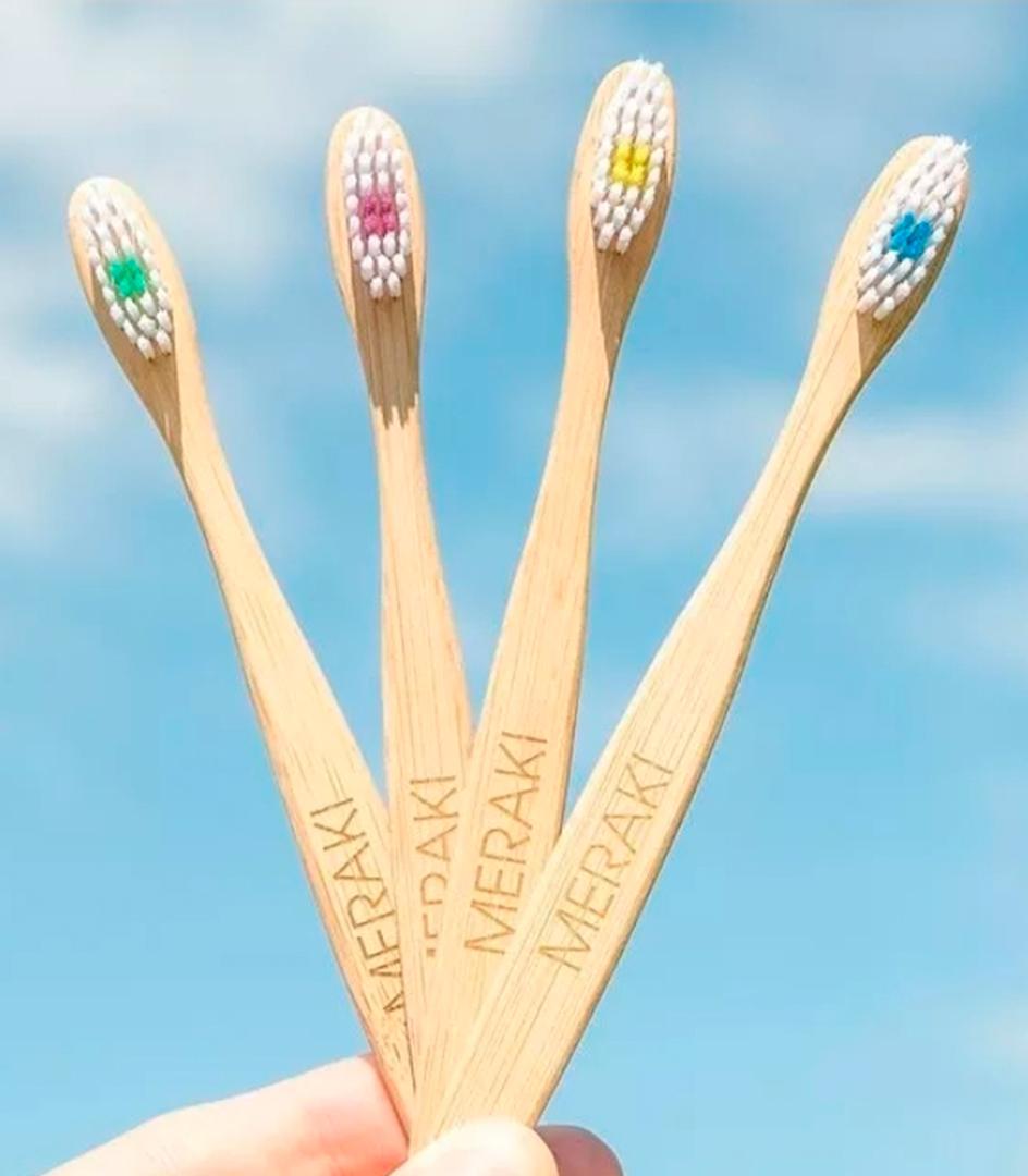Cepillo Dental Ecológico Bambú Meraki Adulto cerda Suave