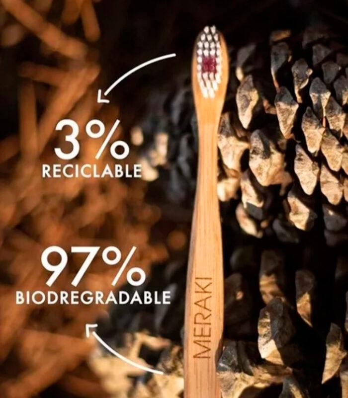 Cepillo Dental Ecológico Bambú Meraki Adulto cerda Dura