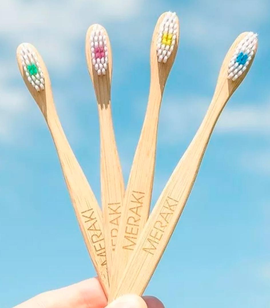 Cepillo Dental Ecológico Bambú Meraki Kids cerda suave